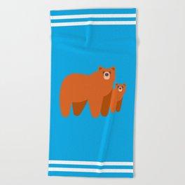 Bear cub Beach Towel