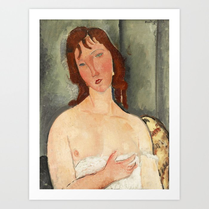 4c6668d9d49 Portrait of a Young Woman by Amedeo Modigliani Art Print by fineearthprints