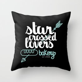 Starcrossed lovers bakery Throw Pillow