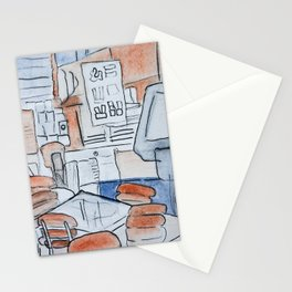 Watercolor V Stationery Cards