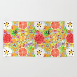 4160 Tuesdays Rainbow Botanicals Beach Towel