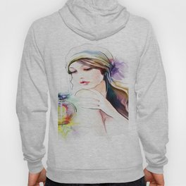 Watercolor Girl V4 Hoody
