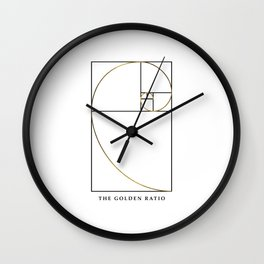 The Golden Ratio Spiral Wall Clock
