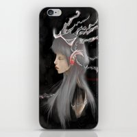 gray iPhone & iPod Skins featuring Gray by Norenne