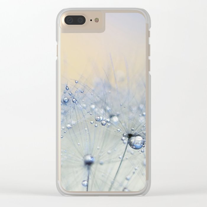 ice blue dandelion Clear iPhone Case