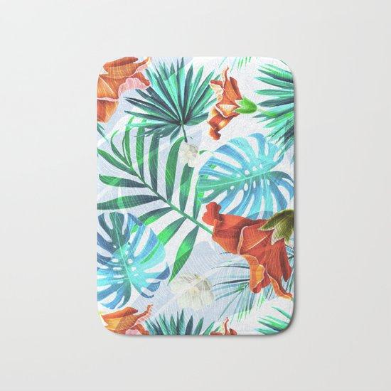 Tropical fiesta - sunset Bath Mat