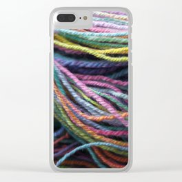 Rainbow Handspun Yarn / Multi-colored Clear iPhone Case