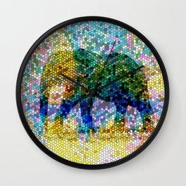 Mosaic Elephant 2 Wall Clock
