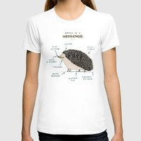anatomy T-shirts featuring Anatomy of a Hedgehog by Sophie Corrigan