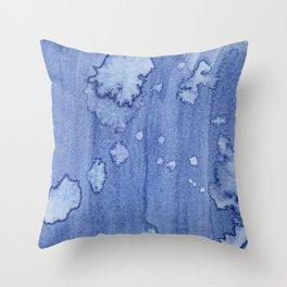 Dusk Sky Splotchy Watercolor Throw Pillow