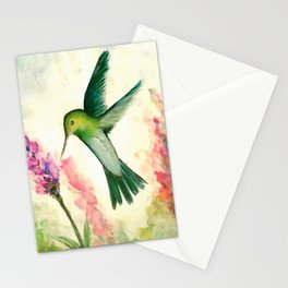 Hummingbird & Lupine watercolor Stationery Cards