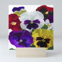 Pansies! Mini Art Print