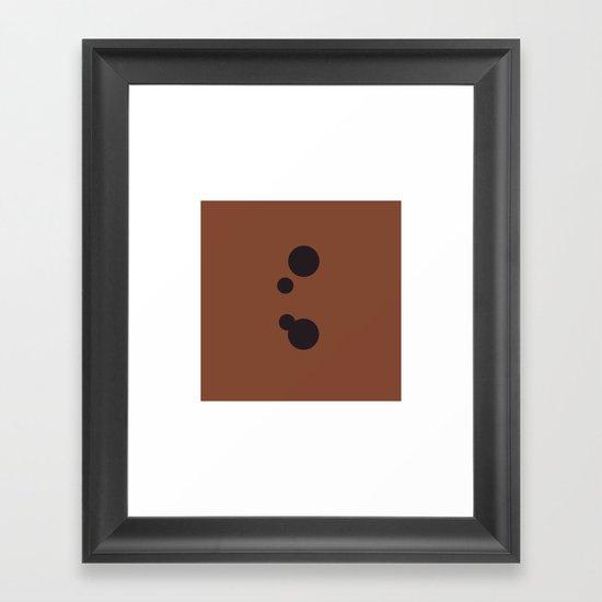 #9 Dots – Geometry Daily Framed Art Print