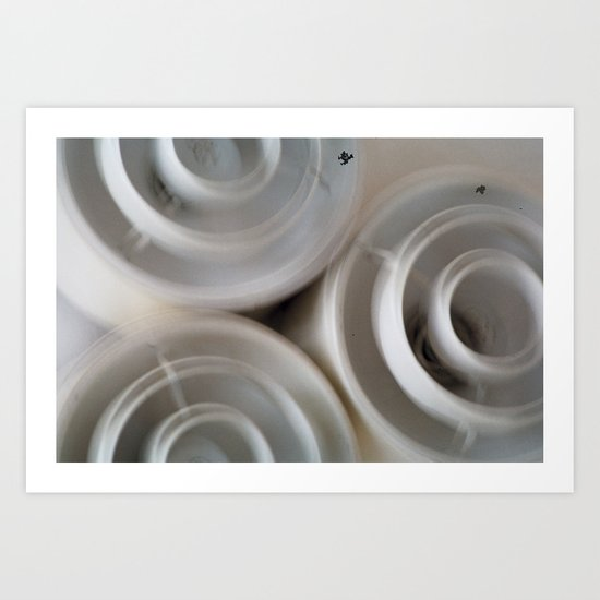 vintage blurry luminaries Art Print