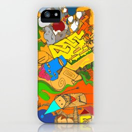 Enveloped Doodle iPhone Case