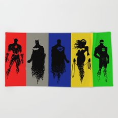 Justice Silhouettes Beach Towel