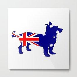 Australian Flag - Chihuahua Metal Print