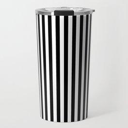 Black & White Stripe Travel Mug