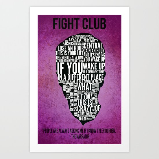 Typography Narrator Art Print
