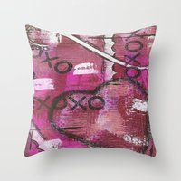 xoxo Throw Pillows featuring XOXO by Kimberly McGuiness