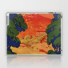 Vintage Italian travel Fiuggi springs Laptop & iPad Skin