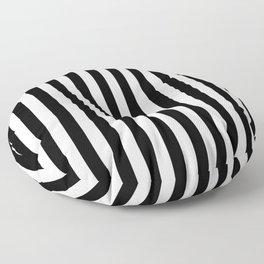 Large Black and White Cabana Stripe Floor Pillow