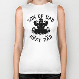 Son of dad, best dad Biker Tank