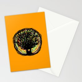 Life colors tree Stationery Cards