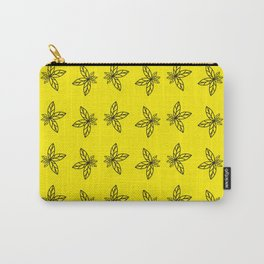 Nature Abstract Yellow Pattern Carry-All Pouch