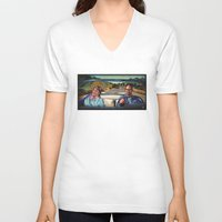 law V-neck T-shirts featuring The Law by Brittany W-Smith