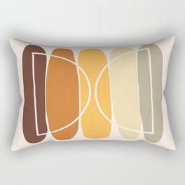 Geometric in Autumn shades Rectangular Pillow