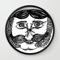 larry Wall Clocks featuring Larry by Addison Karl