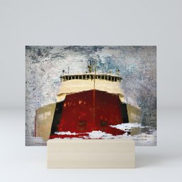 Freighter Reflection art Mini Art Print