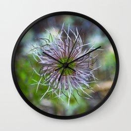 Prairie smoke wildflower Wall Clock