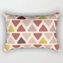 Soft Triangles - Warm gold Rectangular Pillow