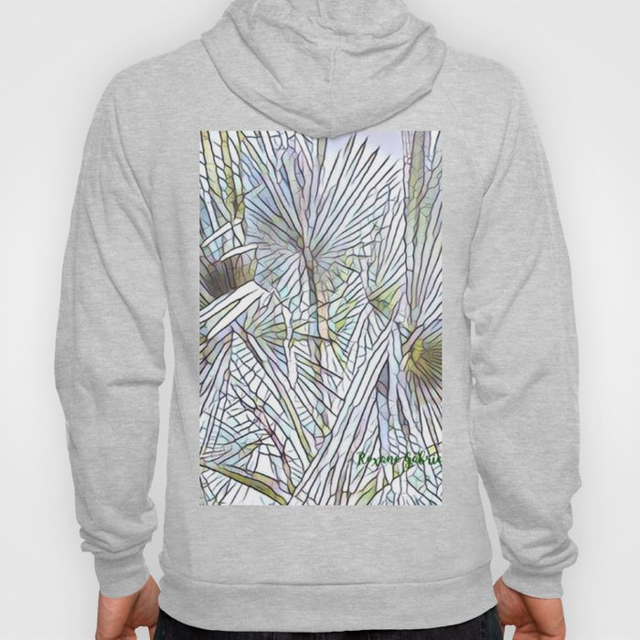 Abstract Palm, Palm Tree Design, White colorful palm, Hoody