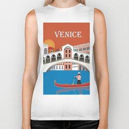 Venice, Italy - Skyline Illustration by Loose Petals Biker Tank