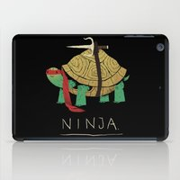 ninja turtle iPad Cases featuring ninja - red by Louis Roskosch