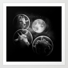 Astrogoats Art Print