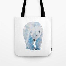 Geometric Polar Bear Tote Bag