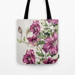 Purple Flowers 3 Tote Bag