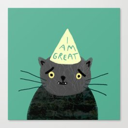 "Fat Olive ""I Am Great"" Canvas Print"