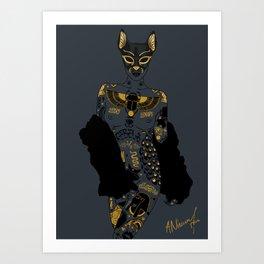 Late Night Egyptian Tales Ep. 2: Bastet Art Print