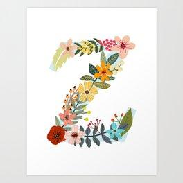 Monogram Letter Z Art Print