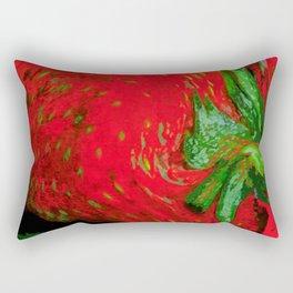 Strawberry Fruit Art Deco Rectangular Pillow