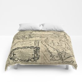 Map of the Ottoman Empire (1680) Comforters