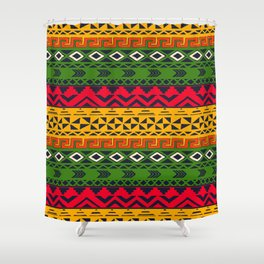 African pattern No3 Shower Curtain