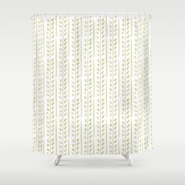 Helecho stripes Shower Curtain