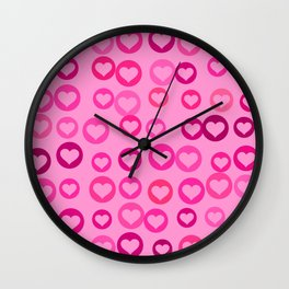 Love Hearts Wall Clock