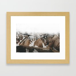 Iceland Snow and Mountains Framed Art Print